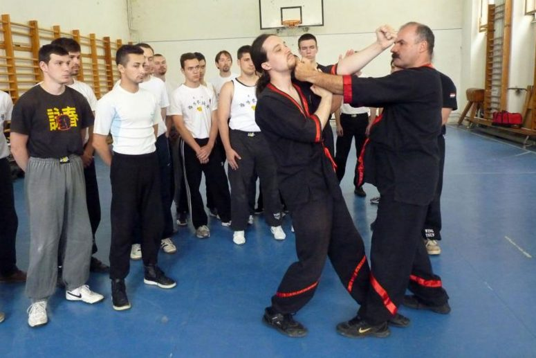 Szál Gábor wing tsun kung fu mester bemutatót tart