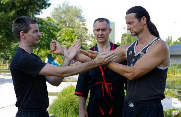 Wing Tsun Kung Fu edzés Újbudán a Bikás parkban