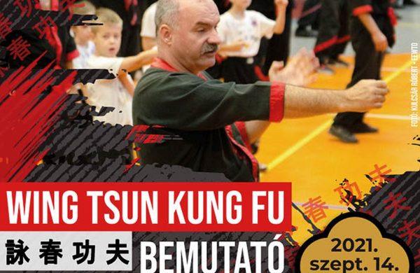 Wing Tsun Kung Fu bemutató show Szél Gábor kung-fu mester vezetésével formaruhában időseknek fiataloknak