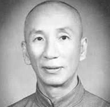 Yip Man nagymaster a wing tsun kung fu legendájának portréja fekete fehérben